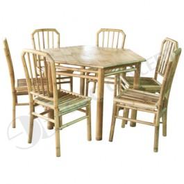 BDS1012-Bamboo Dining Set-Outdoor Bamboo Dining Set