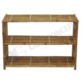 BF-13019 - Bamboo Three Shelf Bookcase