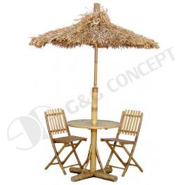 BFS-13014 - Outdoor garden furniture - Outdoor Bamboo Dining Set with Umbrella