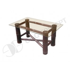 BTL328-Bamboo Furniture-Bamboo Sofa Table with Glass Surface