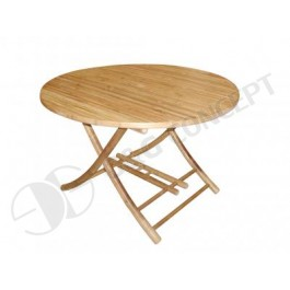 BTL305-Bamboo Furniture-Bamboo Round Folding Coffee Table