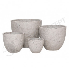 CP-200-S4_Rd. ro-cement pot S/4 - Plain