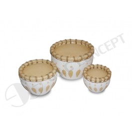 WP-13043-A-Indoor decorative planters - Pots woven with rattan and seagrass