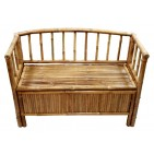 BF-13022 - Bamboo shelves and storage - Bamboo Storage Bench with Arms and Hinged Seat