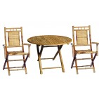 BFS-13011 - Wholesale bamboo furniture - Outdoor Bamboo Dining Round Table Set