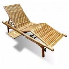 BLG612-Bamboo Furniture-Bamboo Lounger for Sunbathing and Reading Books