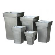 ZP-7000-S5 - Square Zinc pot S/5 - Plain
