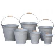 ZP-10000-S6 - Round Zinc Bucket S/6 - Plain