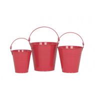 ZP-10400-S3 - Round Zinc Bucket S/3 - Plain