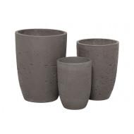 CP-300-S3 _ Round Cement Pot S/3 - Plain_ G&G Concept