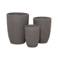 CP-300-S3 _ Rd. Ro-Cement Pot S/3 - Plain_ G&G Concept