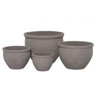 CP-1300-S4 - Round Cement Pot Planter S/4