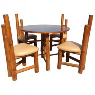BDS1003-Bamboo Dining Set-Bamboo Dining Set with Mini Round Table