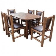 BDS1004-Bamboo Dining Set-Noble Antique Style Bamboo Dining Set