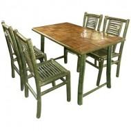 BDS1005-Bamboo Dining Set- Folk Style Bamboo Dining Set
