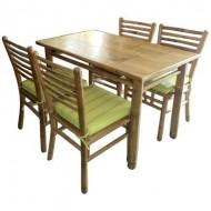 BDS1007-Bamboo Dining Set-Indoor bamboo Dining Set