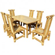BDS1009-Bamboo Dining Set-Newest Style Bamboo Dining Set