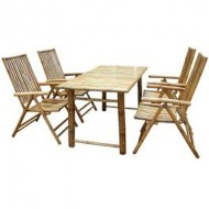 BDS1010-Bamboo Dining Set-Bamboo dining Set with Folding Chair