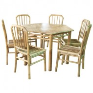 BDS1012-Bamboo Dining Set-Outdoor Bamboo Dining Set