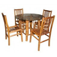 BDS1013-Bamboo Dining Set-Tropical Bamboo Dining Set