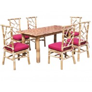 BDS1018-Bamboo Dining Set-Luxury Bamboo Dining Set