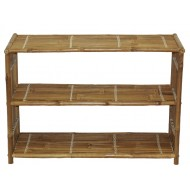 BF-13019 - Bamboo Three Shelf Bookcase