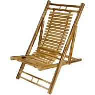 BF-13009 - Outdoor living furniture - Bamboo rustic folding chair recliner