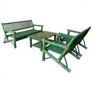 BSF915-Bamboo Sofa-Green Bamboo Sofa