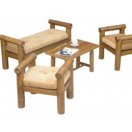 BSF930-Bamboo Sofa-Bamboo Sofa with Chair not Backrest