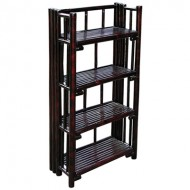 BSH708-Bamboo Furniture-Black Bamboo Storage Shelf