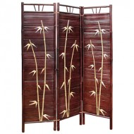 BSR512-Bamboo Furniture-Engraving Traditional Painting Bamboo Screen