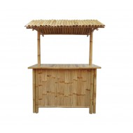 BTB101-Bamboo Tiki Bar-Bamboo Tiki Bar Set with 2 Stools