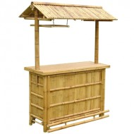 BTB107-Bamboo Tiki Bar-Model Bamboo Tiki Bar with Bamboo Roof