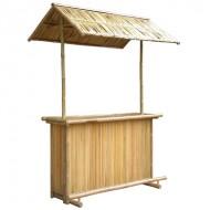 BTB109-Bamboo Tiki Bar- Bamboo Tiki Bar with Coconut Roof