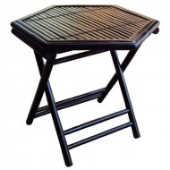 BTL312-Bamboo Furniture-Black Bamboo Folding Chair