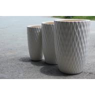 CP-13005-3A Round Glazed Ceramic Planters / Vietnam ceramic planters