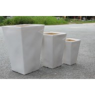 CP-13004-3B Square Glazed Ceramic Planter