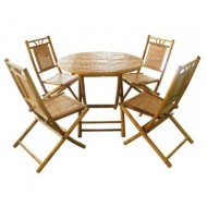 BDS1016-Bamboo Dining Set-Bamboo Folding Dining Set