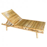 BLG609-Bamboo Furniture-Natural Bamboo Pool Lounger