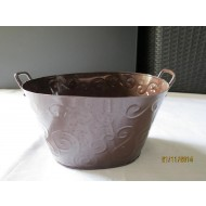 OZB03 - Oval Zinc Bucket with handle