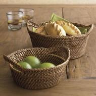 RHB13011 - Wholesale Wicker Baskets - Large Bread Cracker Basket