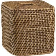 RHB13013 - Wholesale Wicker Storage - Square Tissue Box (Brown)