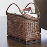 RLB-13021 - Wholesale Rattan Basket - Rattan Magazine Basket