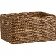 RLB13004 - Rattan storage - Rectangular High Open Tote