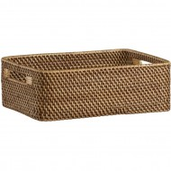 RLB13003 - Rattan storage - Rectangular Low Open Tote