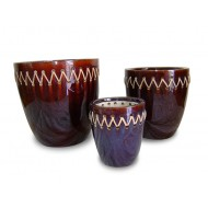 WP-13039-A-Ceramic planters woven with bamboo