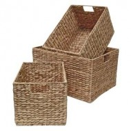 WWB-13001-Set 4 water hyacinth storage basket
