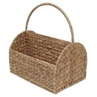 WWB-13002-Water Hyacinth Magazine Storage Basket