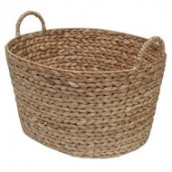 WWB-13004 - Wicker Laundry Basket - Water Hyacinth Oval Washing Basket