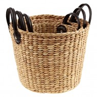 WWB-13006-Set of 3 Water Hyacinth Storage Baskets